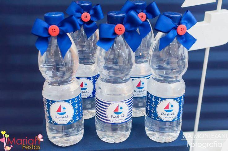 Água decorada tema marinheiro   Festa infantil   Festa marinheiro   Decoração by Mariah festas #aguadecorada #festamarinheiro