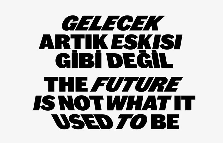 The Future Is Not What It Used To Be: The 2nd Istanbul Design Biennial Identity - Project Projects