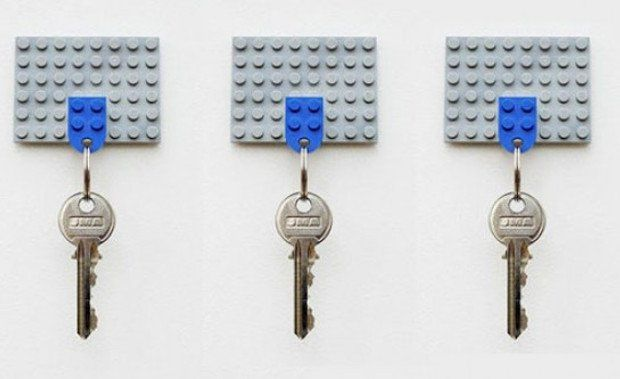 Amazing Inventions Lego Key Holder | www.piclectica.com #piclectica