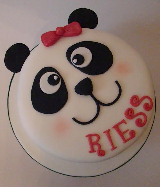 Boutique Cake Shop: Panda Birthday Cake and Cupcakes