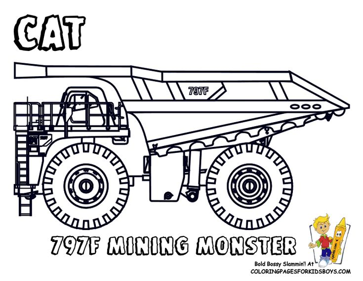 road construction equipment coloring pages - photo#2
