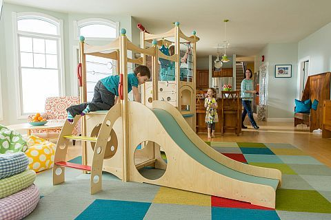 Indoor Playset 819 is from our popular line of indoor playsets, which features slides, climbers, ramps, firepoles, and more