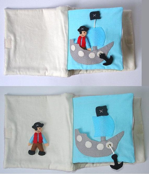 Pirate in ship - quiet book page