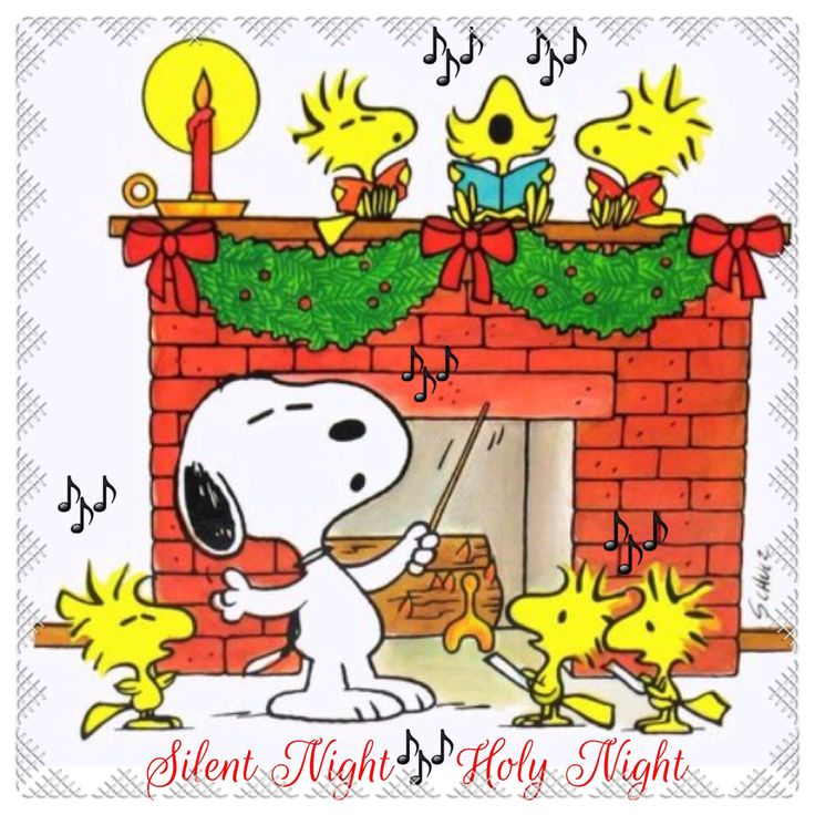 A peanuts christmas!  love the lil Woodstock with his mouth wide open in song…
