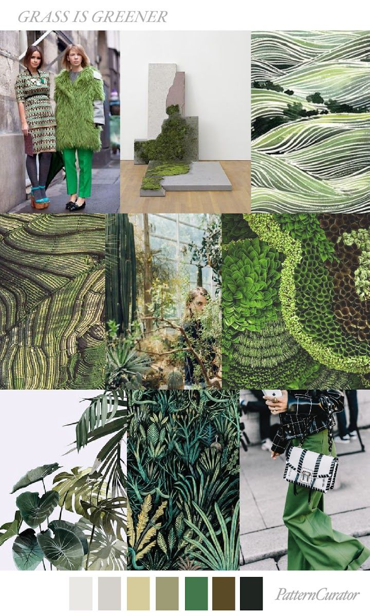 TRENDS // PATTERN CURATOR - GRASS IS GREENER . A/W 18