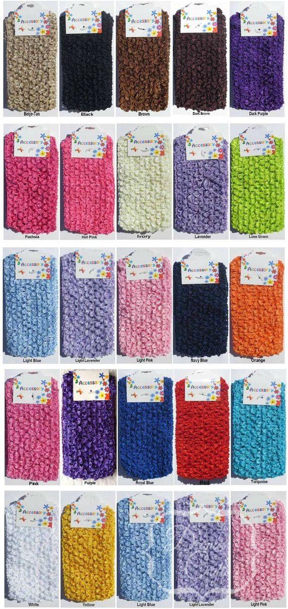 2 Crochet Tutu Tops Headbands Waistbands 2.75 Inch by deanascrafts, $1.69