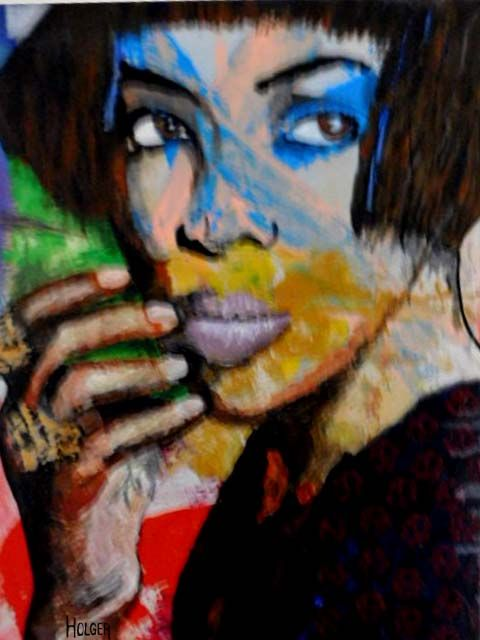 naomi :  by holger acrylic on canvas 60x45 cm
