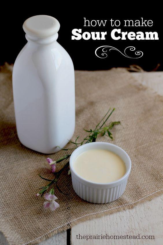 How to Make Sour Cream: