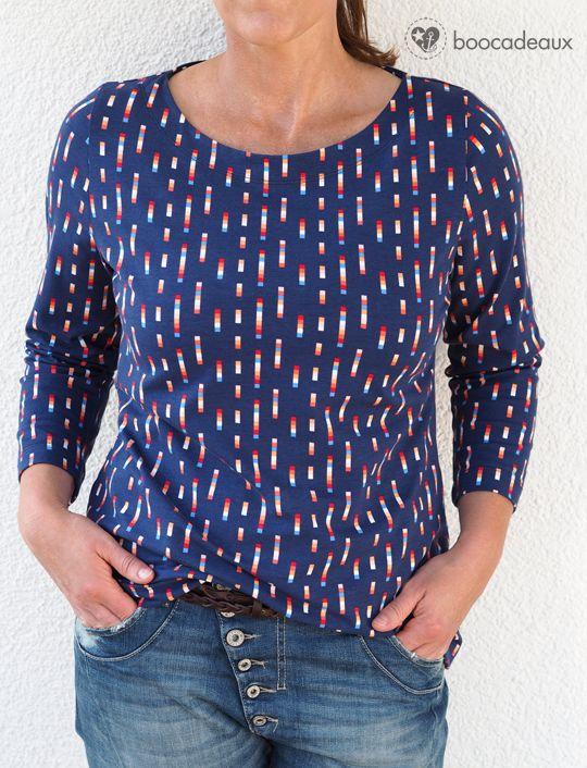 RUMS - Basic Shirt nach dem Schnitt lillesol women No.22 - Jerseykleid mit U-Boot Ausschnitt