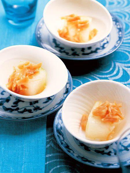 冬瓜の繊細ではかない口溶けと、貝柱の優しい旨みを堪能して|『ELLE a table』はおしゃれで簡単なレシピが満載!