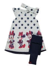 Disney Minnie Mouse Dress, Leggings and Headband Set