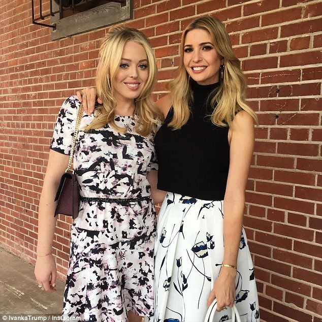 Girls on top: Ivanka and her sister Tiffany have both been revving up their campaign effor...