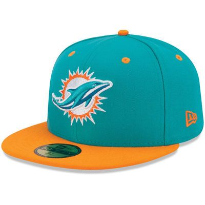 New Era Miami Dolphins 2Tone 59FIFTY Fitted Hat - Aqua