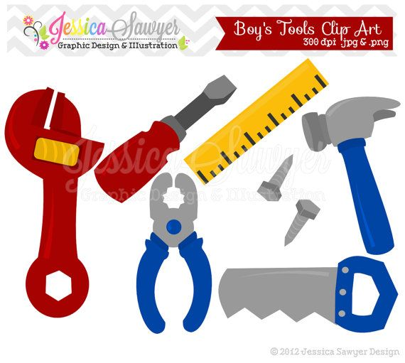 INSTANT DOWNLOAD, building tool clipart, fathers day clip art, for commercial us...