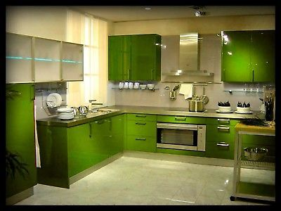 lime green kitchens | Lime Green Coloured Vinyl for Kitchen Cabinets & Doors