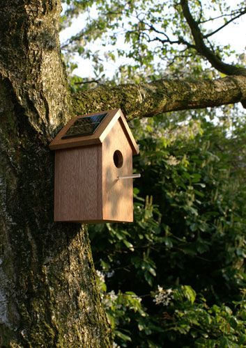 'Solar Birdhouse' by Oooms.  t-h-i-n-g-s.blogspot.com