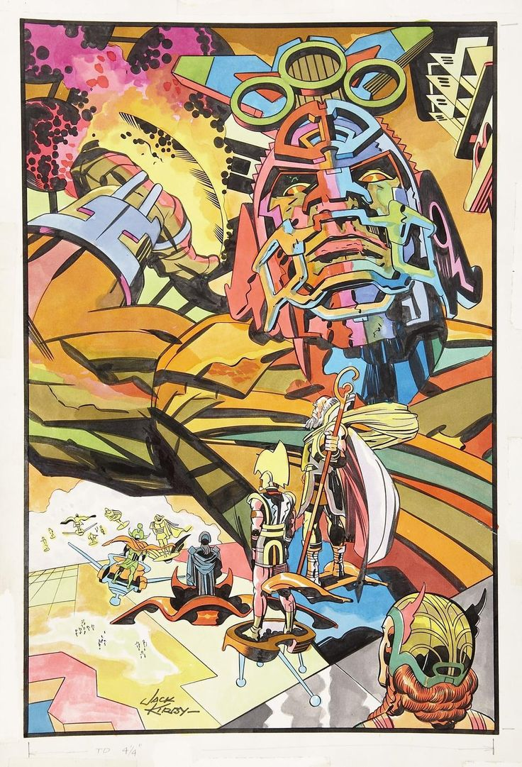 Mad craziness by Jack Kirby.  Kirby's fingernail clippings held more greatness than most of us will ever earn in a lifetime.