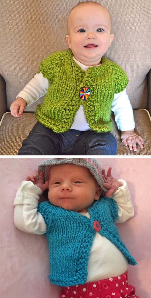 Vintage Knitting Pattern Easy Baby Cardigan 0-3 months Sirdar Snuggly