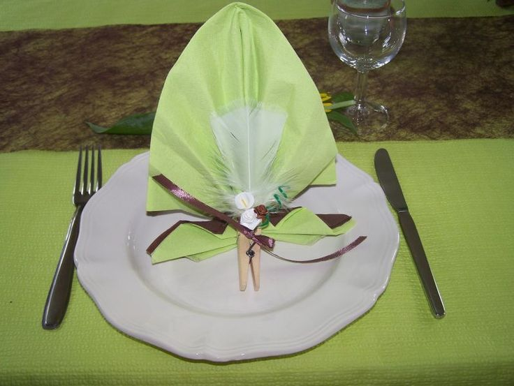 53 best origami pour une jolie table images on pinterest - Serviette de table origami ...