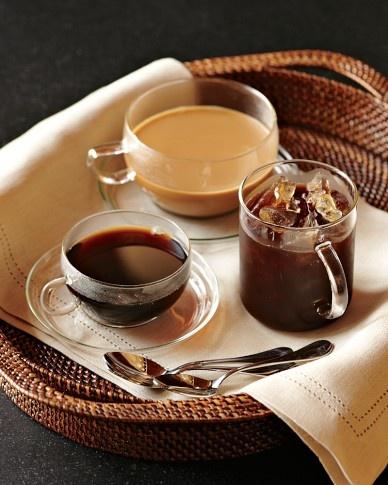 Beautiful glass coffee and tea cups :)