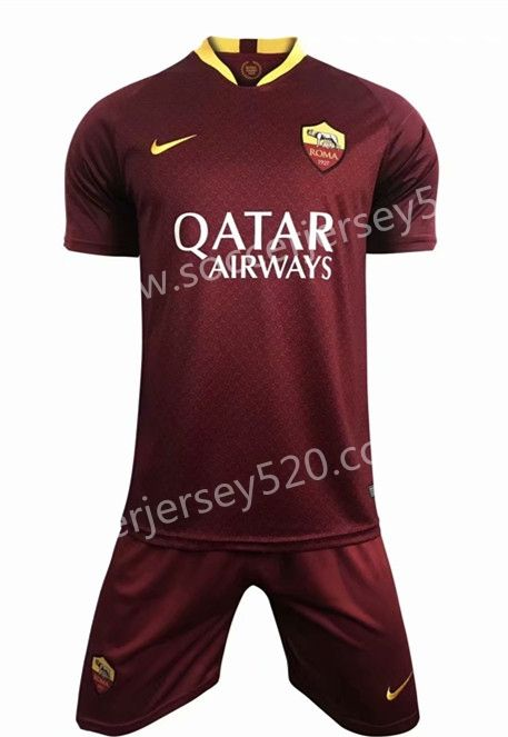 competitive price 67f56 6fdc0 2018-19 AS Roma Home Red Soccer Uniform | Cheap Soccer ...