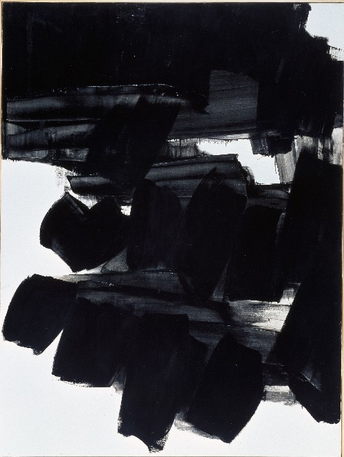 Pierre Soulages - Abstract Art - Informal Painting