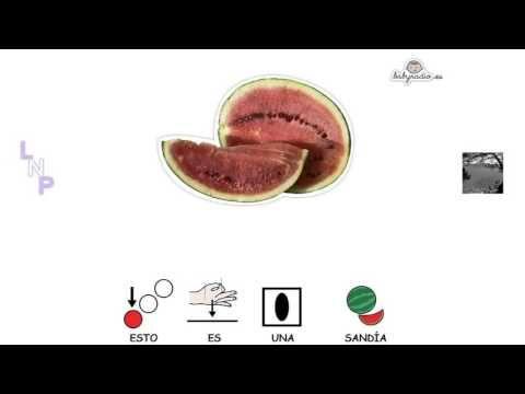 VIDEOS - Aprende las frutas.  Video de BabyRadio con pictos de Arasaac para trabajar las frutas.