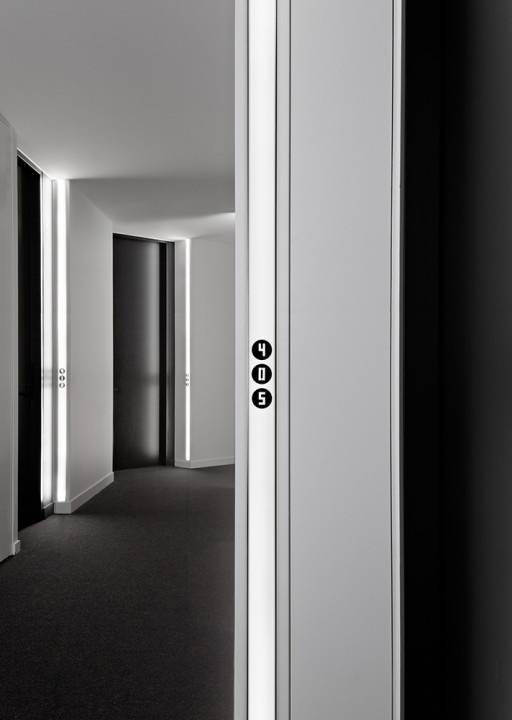 Minimal Apartment Number Signage