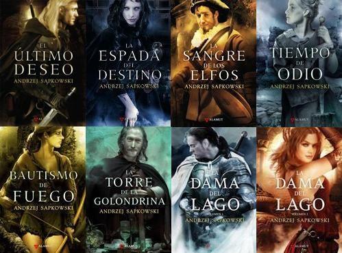 """Magnífica saga de """"Geralt de Rivia"""" con Portadas de Alejandro Colucci."""