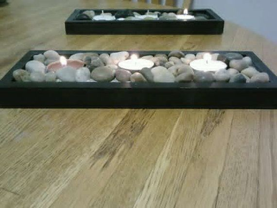 Zen Wedding Centerpiece Tealight Candle by DeerwoodCreekGifts