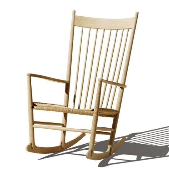 J16 Rocking Chair, soap treated oak, Fredericia, Hans J. Wegner