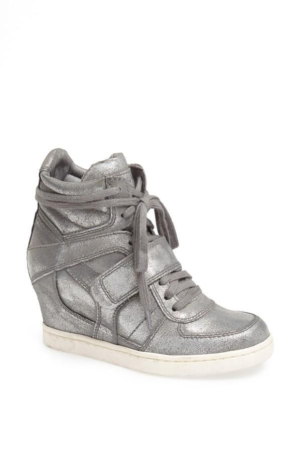 Cool. Silver Wedge Sneaker.