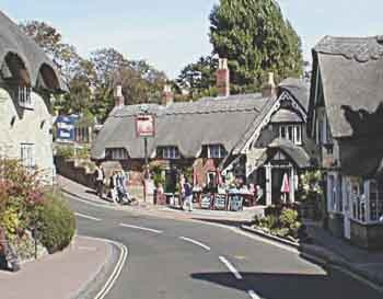 The little town of Shanklin on the Isle of Wight in southern England.  I was taken there by pony and 'trap' (a small two-wheeled cart).