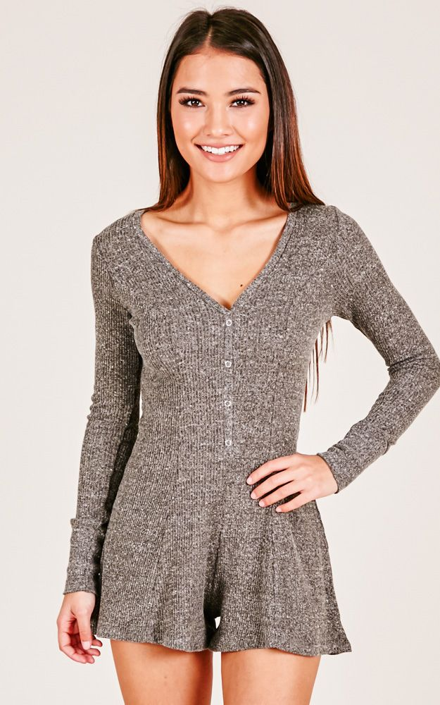 Cozy Days playsuit in grey