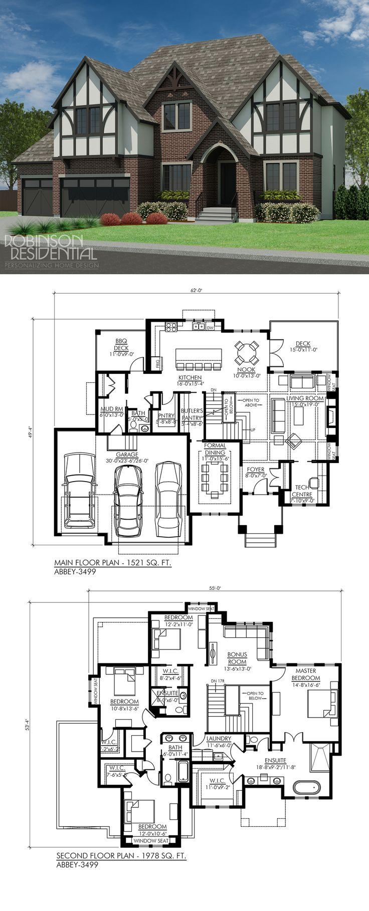 Tudor Abbey 3499 House Floor PlansDream 4822