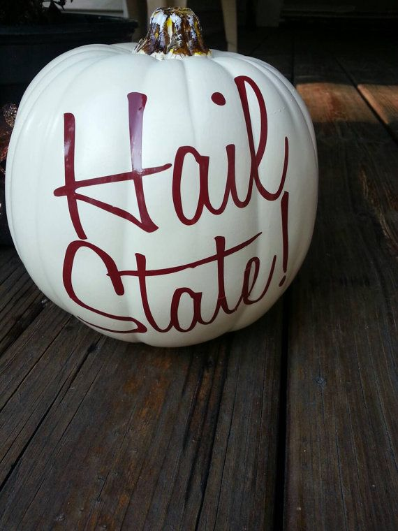 HAIL STATE MSU pumpkin vinyl decal https://www.etsy.com/listing/204953455/mississippi-state-hail-state-vinyl