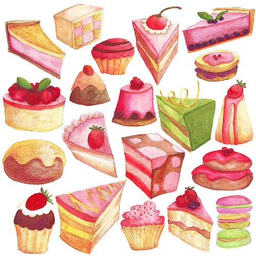 Cute Sweets and Treats Illustration
