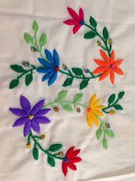 Resultado de imagem para flores bordados en lana