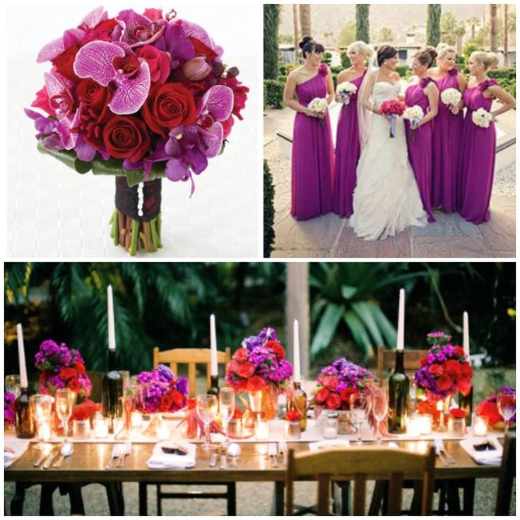 Purple And Red Wedding Ideas: 11 Best Images About Radiant Orchid And Red Wedding Theme