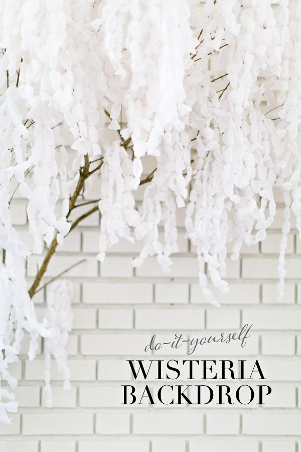 DIY Paper Wisteria Backdrop http://ruffledblog.com/diy-paper-wisteria-backdrop