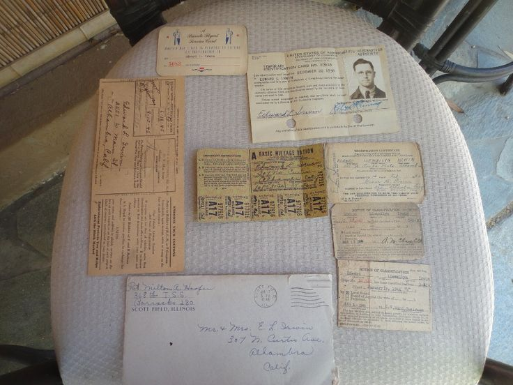 WWII Registration card Notice of Classification cards Ration stamps and cards ID and more... by MilliesAttique on Etsy
