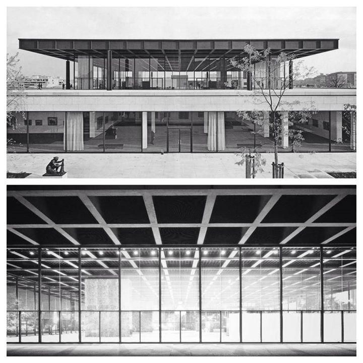 Neue Nationalgalerie in Berlin by Ludwig Mies Van der Rohe, 1965 - 1968. Awesome!