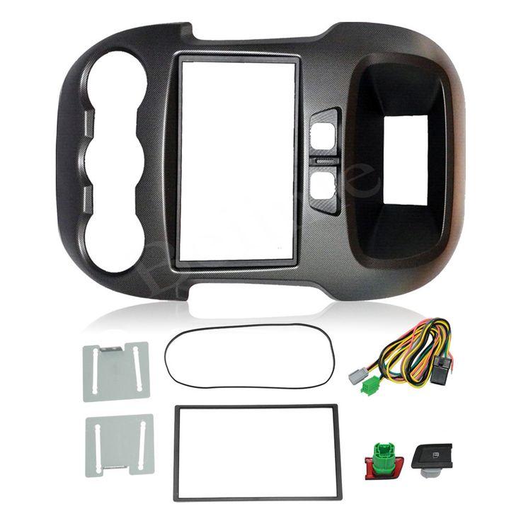 2 Din Car Kit / Car Fascia Panel / Audio Panel Frame / Car Dash Frame Kit For Ford Ranger 2012 2013 Retail / Pcs   #Affiliate