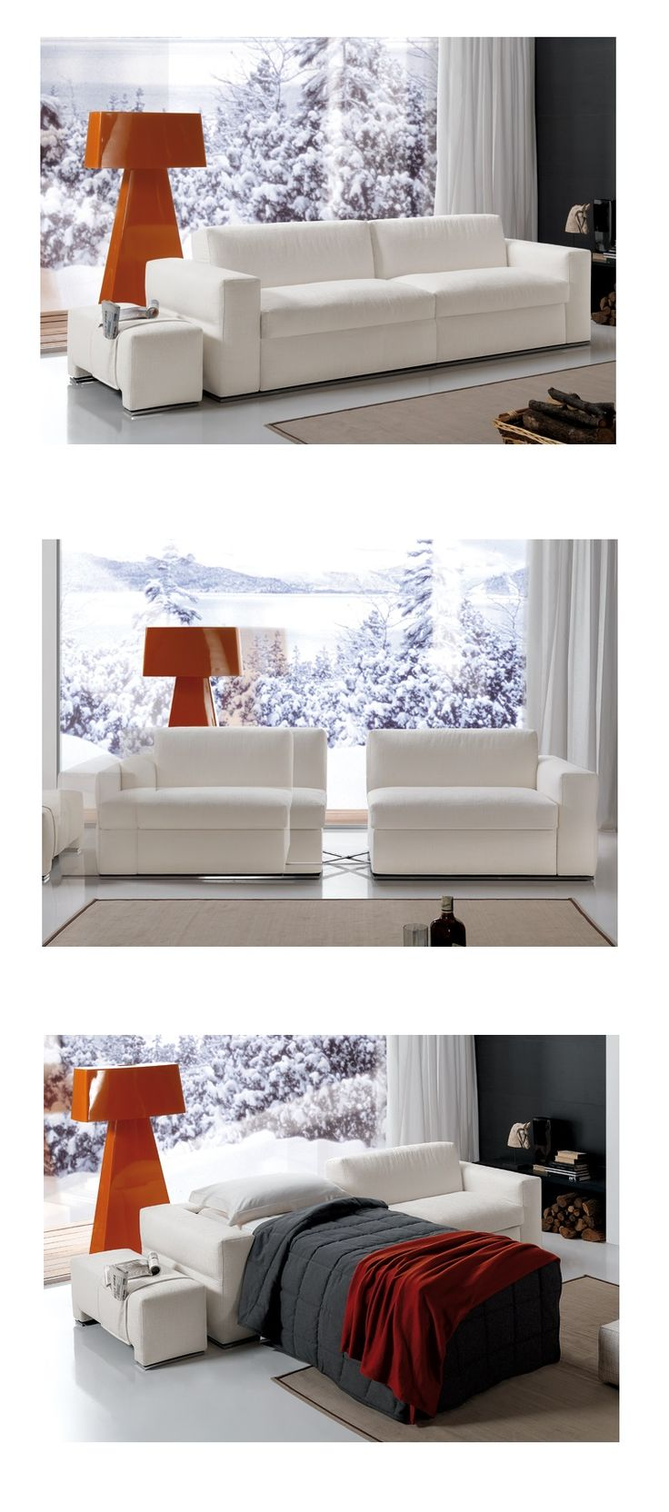 Sofa bed with 2 single size bed  by Milano Smart Living !