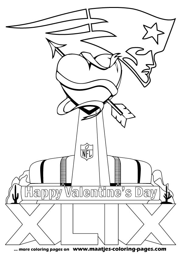 More Superbowl Valentines Day Coloring Pages On Maatjes