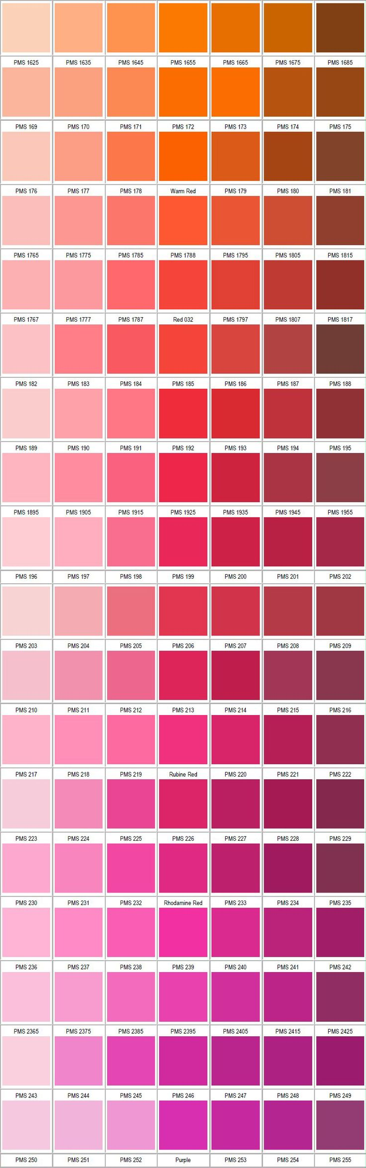pantone pink color chart - photo #8