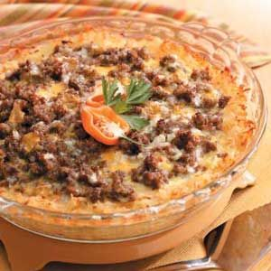 """The pinner said """"I make this pretty much every weekend and any """"brunch"""" function I take this.  It is gone in about 12 seconds and EVERYONE LOVES IT!"""": Breakfast Casseroles, Sausages Baking, Yummy Breakfast, Brown Sausages, Sausages Hashbrown, Hash Browns, Breakfast Recipes, Breakfast Sausages, Breakfast Brunch"""