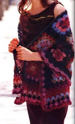 Stylish Easy Crochet: Crochet Shawl Wrap - Stylish & Easy - Crochet Granny Square