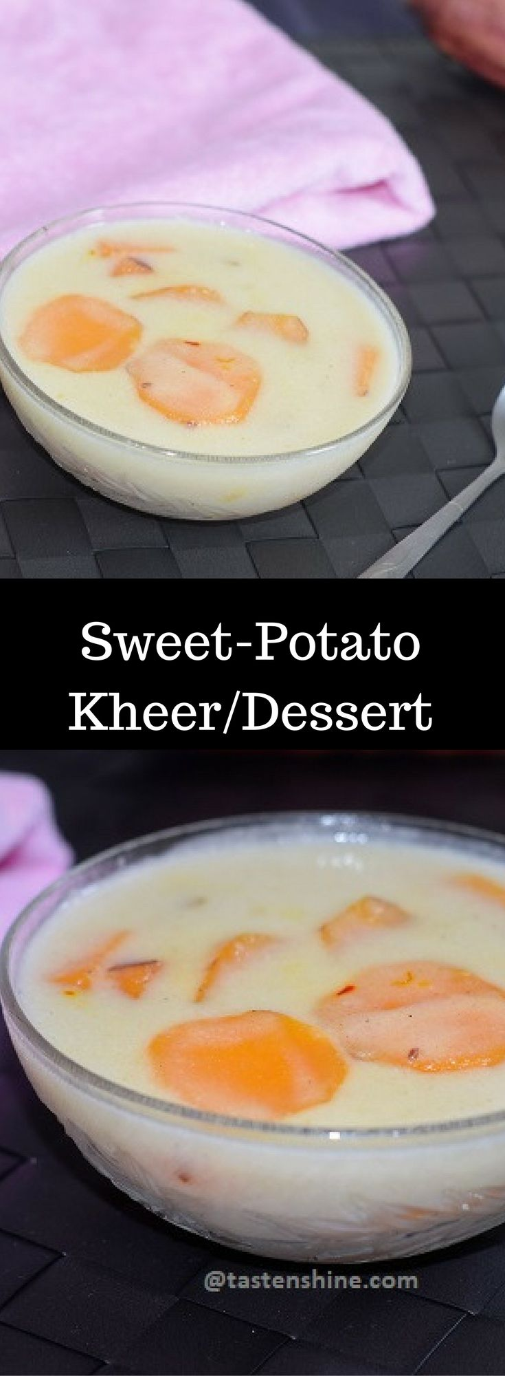 Sweet Potato Kheer is an authentic recipe from Goa, a coastal state in India. Simple and easy to make coconut milk based recipe with just 5 ingredients