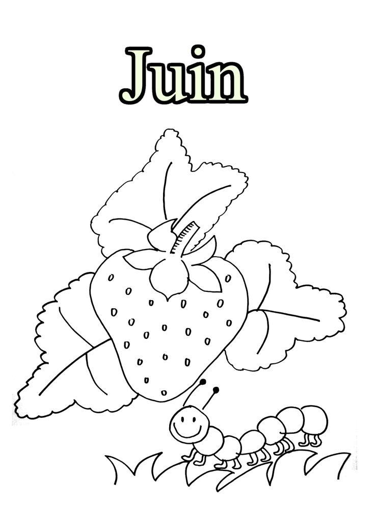 Dessins Gratuits à Colorier - Coloriage Juin à imprimer et colorier